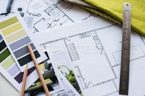 Interior designers working table Stock photo © manera