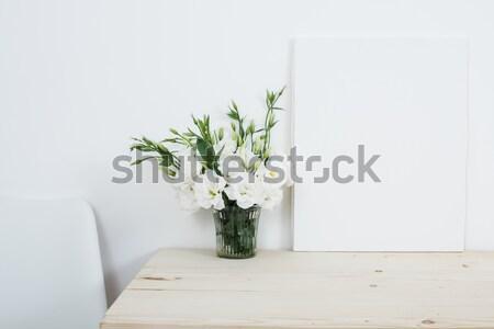 Elegante ramo jarrón mesa blanco habitación Foto stock © manera