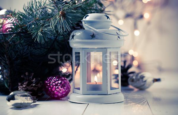 Stok fotoğraf: Bağbozumu · Noel · eski · süslemeleri