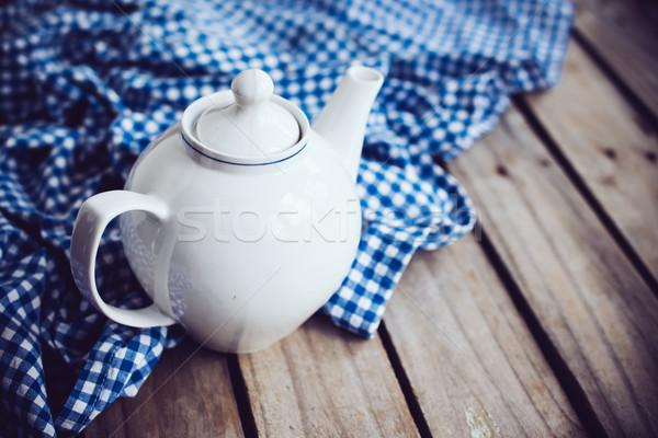 white porcelain teapot  Stock photo © manera