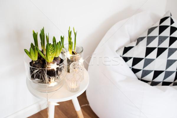 Quarto decoração branco primavera interior Foto stock © manera