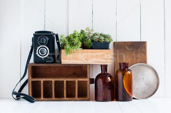 Retro home decor Stock photo © manera