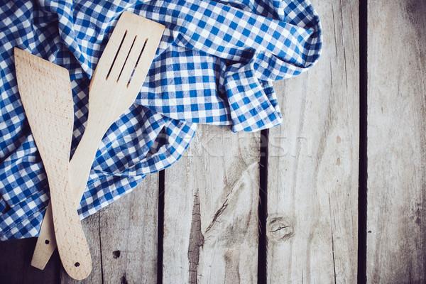 Legno due blu panno vecchio Foto d'archivio © manera