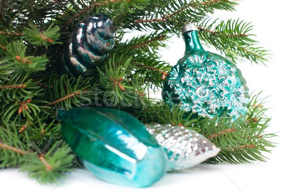Dekoracje wystroić vintage christmas biały Zdjęcia stock © manera