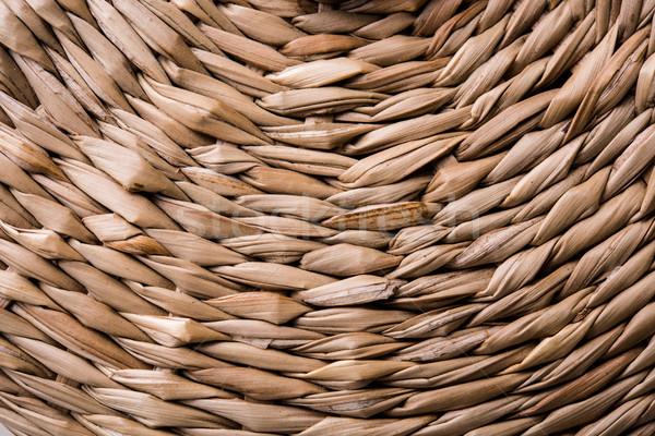 Vieux osier panier texture coup Photo stock © manera