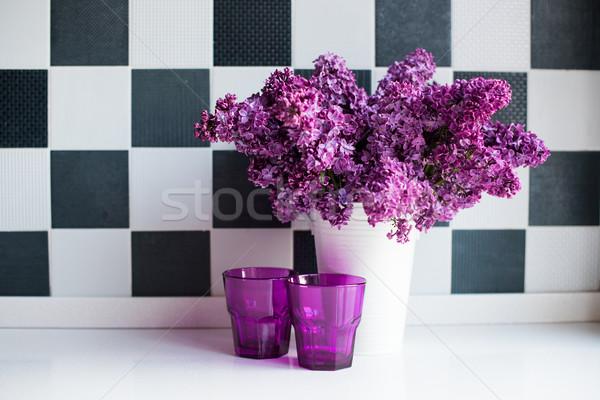 ваза очки весны букет стены Сток-фото © manera