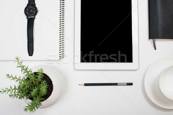 Сток-фото: таблетка · белый · современный · workspace
