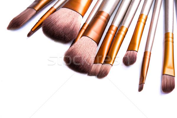 Stockfoto: Make · ingesteld · schoonheid · professionele · tools · geïsoleerd