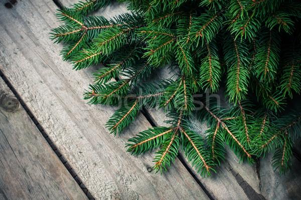 Verde enfeitar fresco velho Foto stock © manera