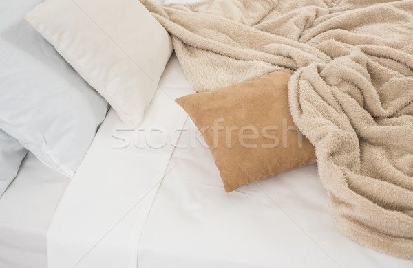 White and beige bedding Stock photo © manera