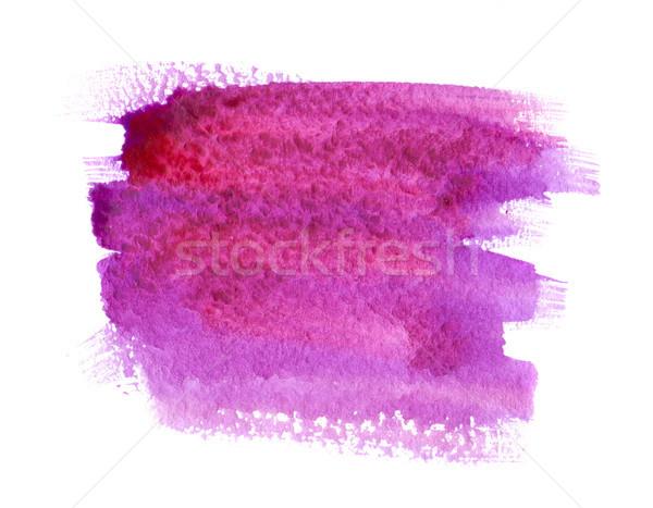 Wasserfarbe malen Fleck rosa lila weiß Stock foto © manera