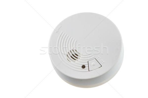 Humo detector fuego seguridad aislado blanco Foto stock © manfredxy