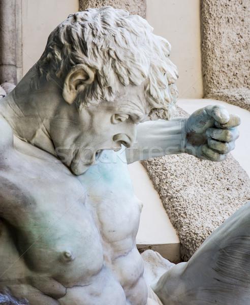 Rzeźba fontanna Wiedeń placu człowiek marmuru Zdjęcia stock © manfredxy