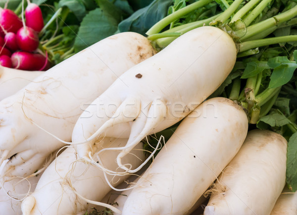 White radish seen at the market Stock photo © manfredxy