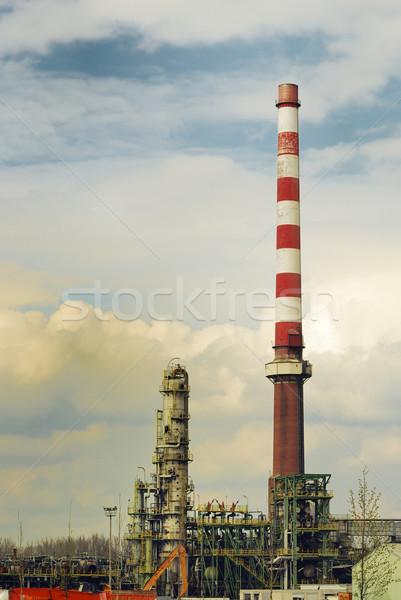 Vegyi szennyezés elhagyatott ipari olajfinomító technológia Stock fotó © manfredxy