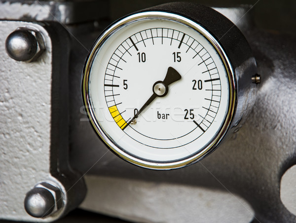 Vintage manometer of a fire truck Stock photo © manfredxy