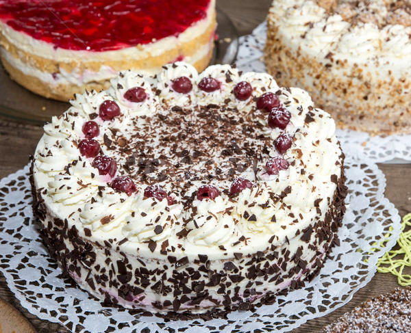 Gâteau buffet fête d'anniversaire alimentaire fruits dessert Photo stock © manfredxy