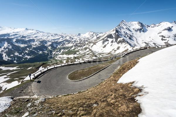 Yüksek alpine yol dağ Avusturya Stok fotoğraf © manfredxy