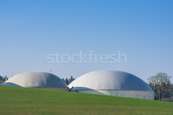 Durable ressources bio gaz technologie bleu Photo stock © manfredxy