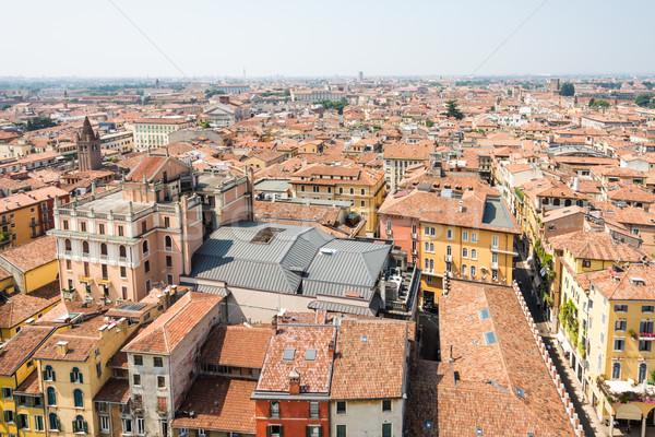 Cityscape verona ver cidade Itália casa Foto stock © manfredxy