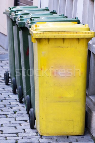 Row of garbage cans Stock photo © manfredxy