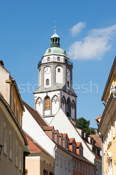 Tower of the Frauenkirche church in Meissen Stock photo © manfredxy