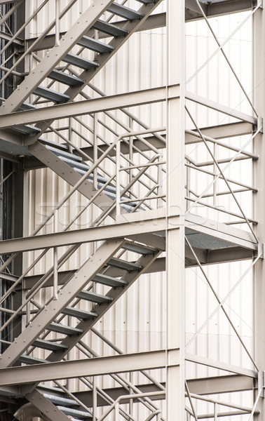 Escape route via exterior metal staircase Stock photo © manfredxy