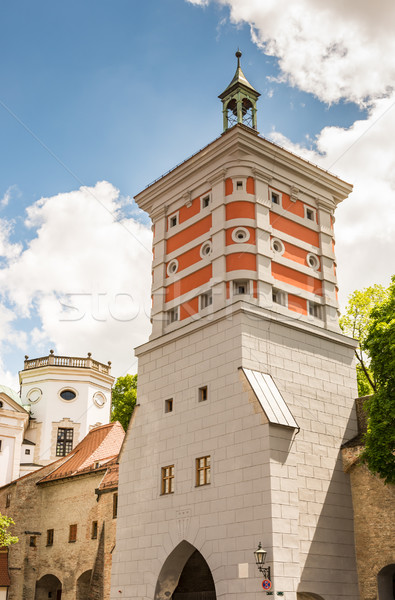 Rotes Tor tower in Augsburg Stock photo © manfredxy