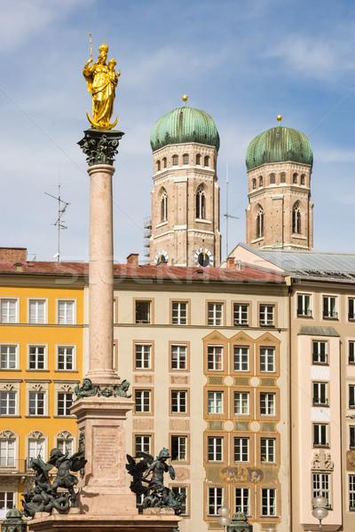 Kolom kathedraal München huis stad architectuur Stockfoto © manfredxy