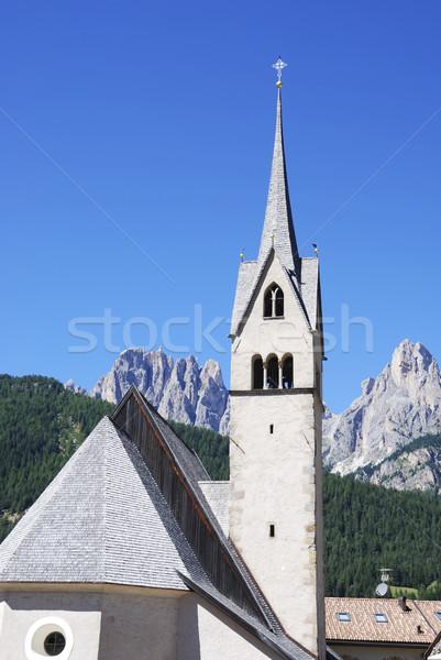 Alpino igreja céu arquitetura torre religião Foto stock © manfredxy