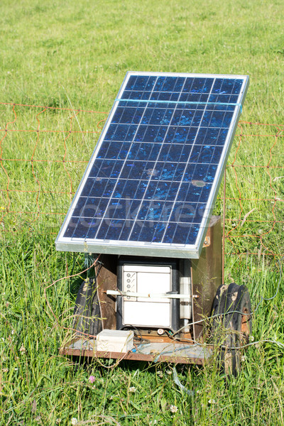 Electric Fence with Solar Panel Stock photo © manfredxy