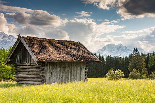 Alpine barn in the Karwendel Mountain range Stock photo © manfredxy