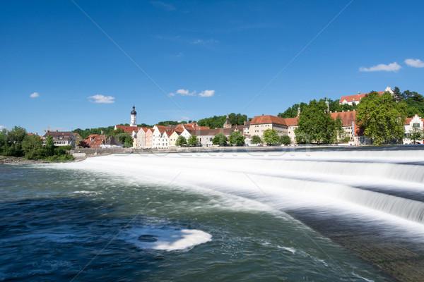 Landsberg at the river Lech Stock photo © manfredxy