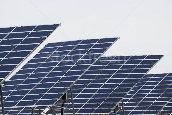 Solar panel field Stock photo © manfredxy