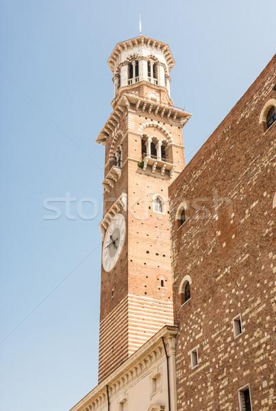 Lamberti Tower in Verona Stock photo © manfredxy