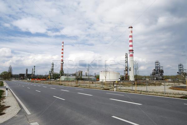 Industrielle ruiner abandonné ciel route Photo stock © manfredxy