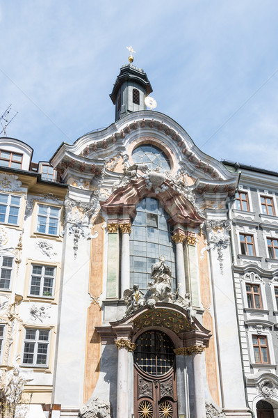Kirche München Fassade Barock Gebäude Stock foto © manfredxy
