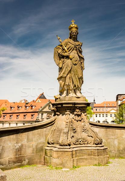 Sculpture of Heilige Kunigunde in Bamberg Stock photo © manfredxy