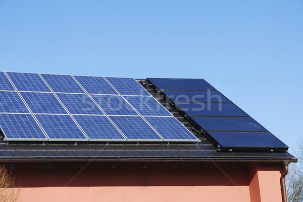 Photovoltaic And Solar Heating System  Stock photo © manfredxy