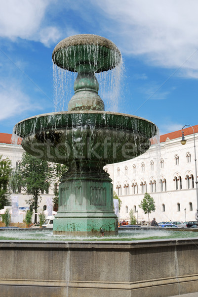 Мюнхен фонтан университета здании зданий городского Сток-фото © manfredxy