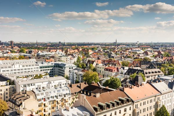 Luftbild München Stadtbild Stadt Skyline Architektur Stock foto © manfredxy