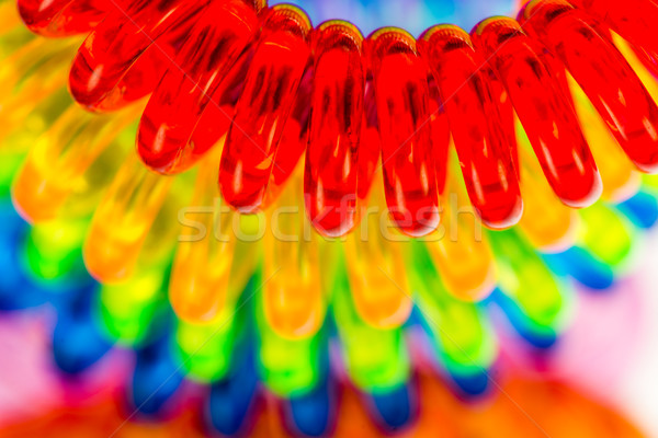 Abstract background of various spiral hair ties Stock photo © manfredxy
