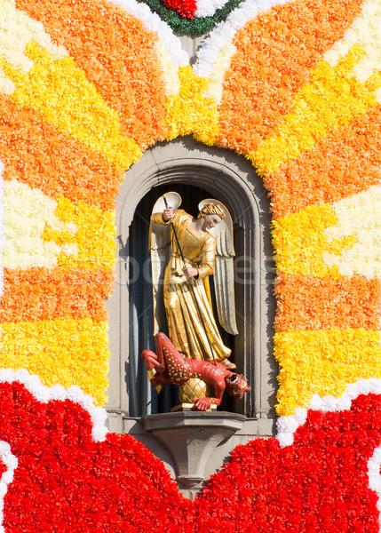 Escultura iglesia flor Foto stock © manfredxy