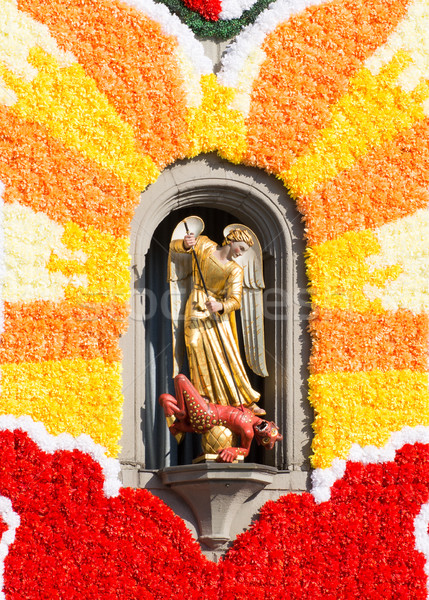 Sculptuur kerk bloem Stockfoto © manfredxy