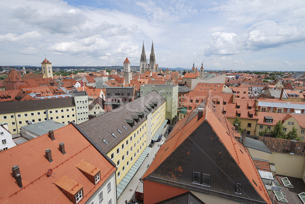 Roofs of Regensburg Stock photo © manfredxy
