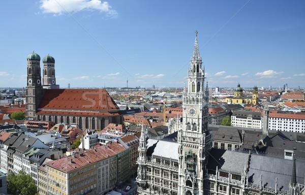 München városháza városi építészet tető városkép Stock fotó © manfredxy