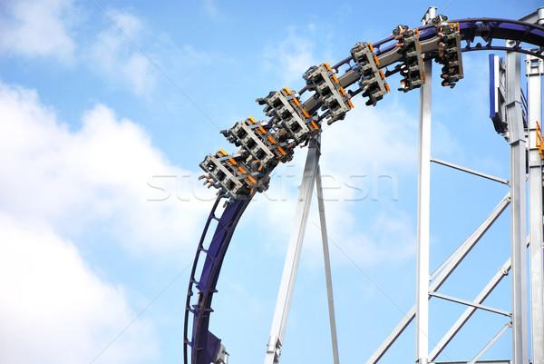 Montanha-russa azul diversão acelerar Munique Alemanha Foto stock © manfredxy