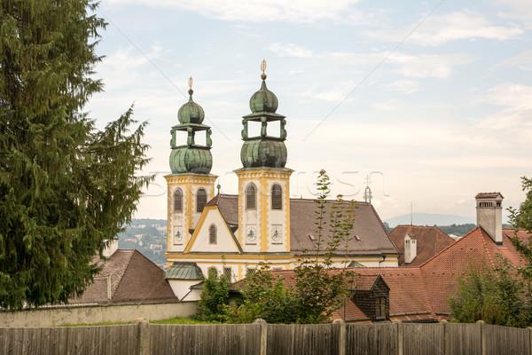 Bedevaart kerk gebouw architectuur toren Stockfoto © manfredxy