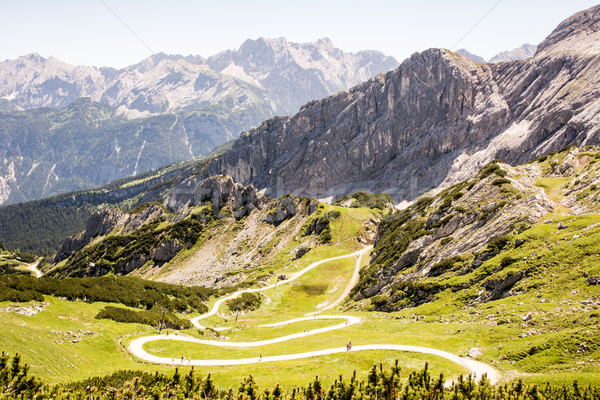Hiking path in the alps Stock photo © manfredxy
