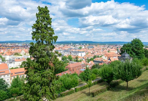 Widok z lotu ptaka miasta niebo domu budynku budynków Zdjęcia stock © manfredxy